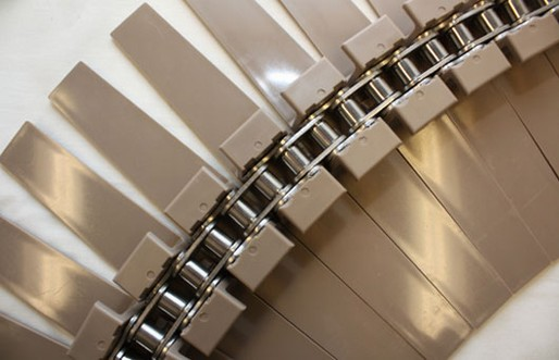 Tapered Slats with Stainless Steel Chain Systems